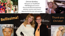 Meeting with Christie Brinkley: an honor!