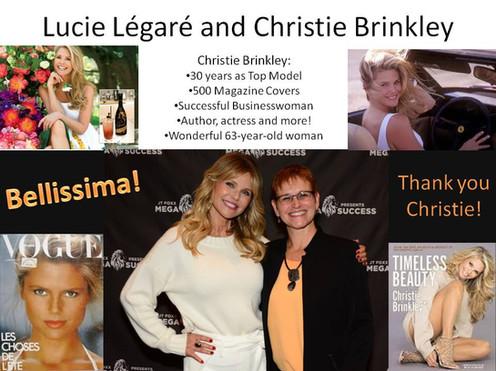 Lucie Légaré and Christie Brinkley