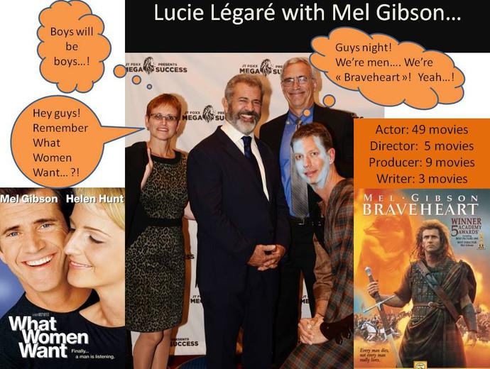 Lucie Légaré and Mel Gibson
