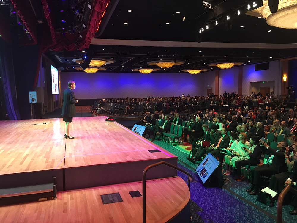 Video: Lucie Légaré speaking to 2500 people at Mega Success in Los Angeles, California, November 2017