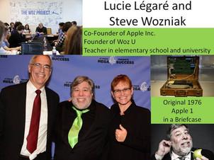 Lucie Légaré meets Steve Wozniak
