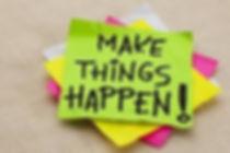 Slogan d'Interaction : Make things happen!