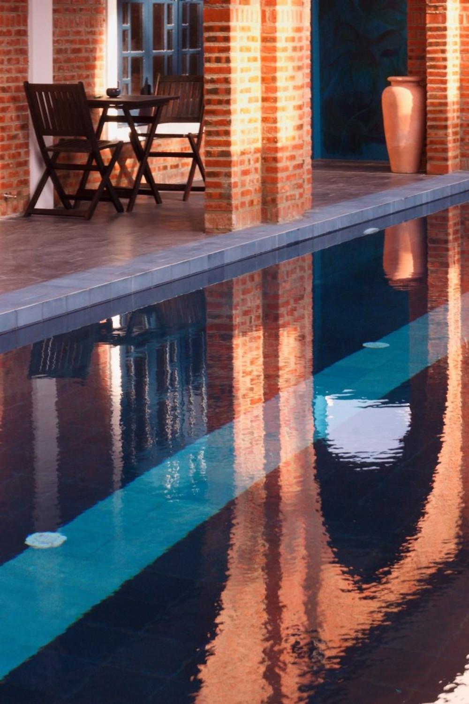 A view of the pool at the Gratitude Vietnam Yoga Retreat Venue