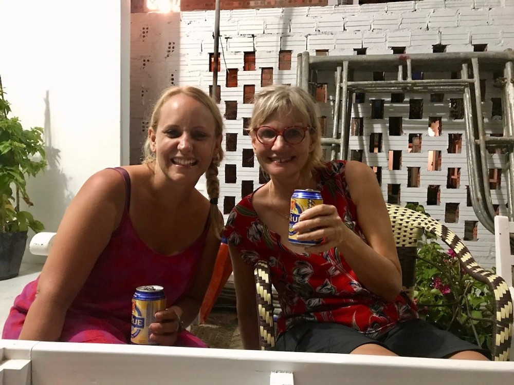 Kerstin, Hannah, and a well-earned Larue!