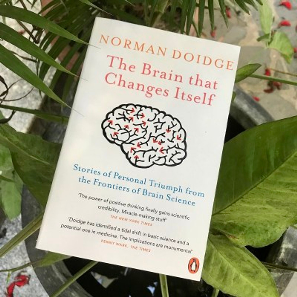 """A photograph of the book """"The Brain that Changes Itself"""" by Norman Doidge"""