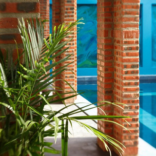 The pool at Gratitude Vietnam retreat center Hoi An