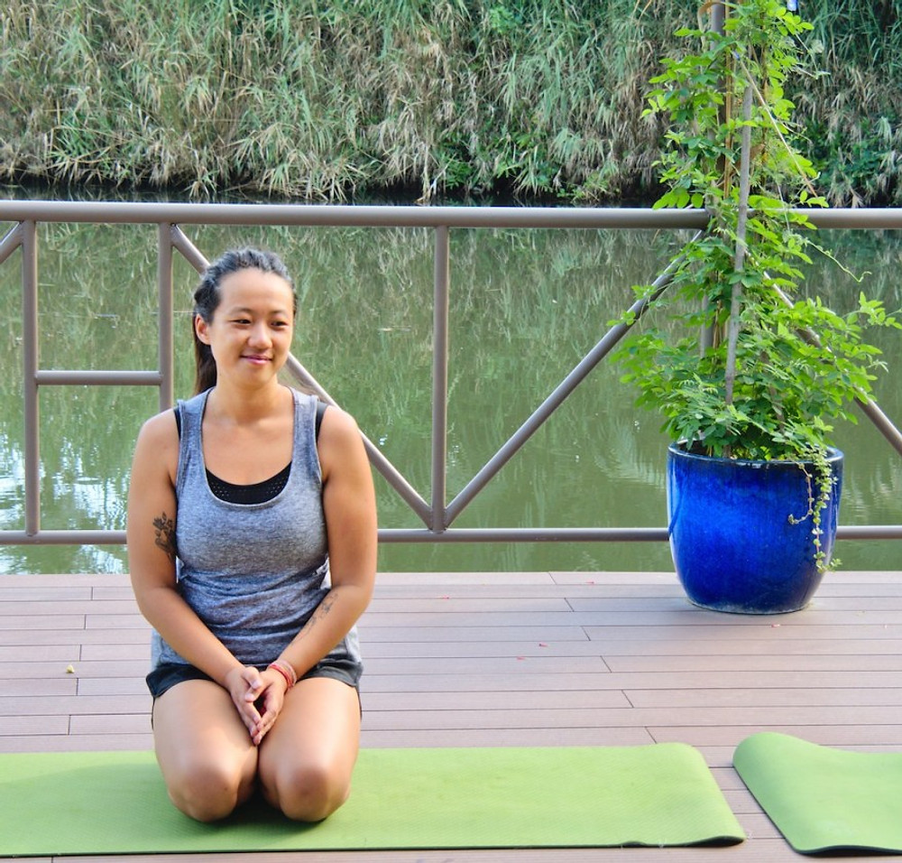 A picture of Victoria Nhan Yoga and Mindfulness Teacher at Gratitude Vietnam