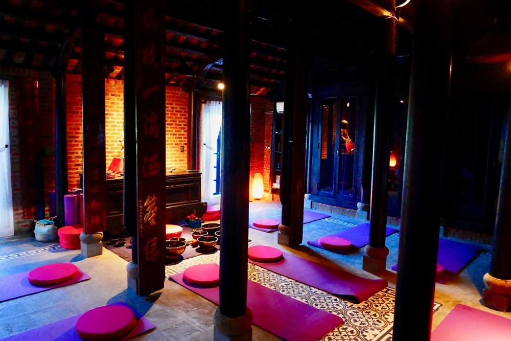 A photograph of the Meditation Room at the Gratitude Vietnam, retreat centre Vietnam