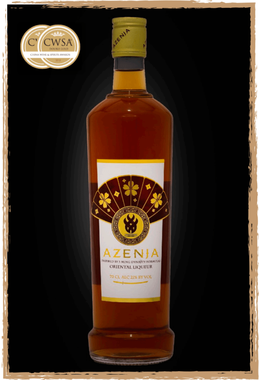 A photograph of Azenja, a sophisticated blend of 21 healing herbs, spices and fruits inspired by the Ming Dynasty.
