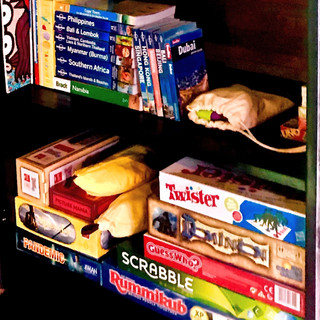 Games and books in the wellness library