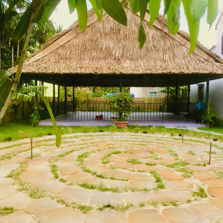 Meditation Labyrinth and yoga sala Gratitude Retreat in Vietnam