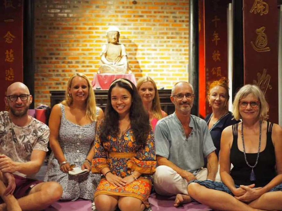 A photograph of the Summer Solstice Harmonics Sound Meditation at Gratitude Vietnam
