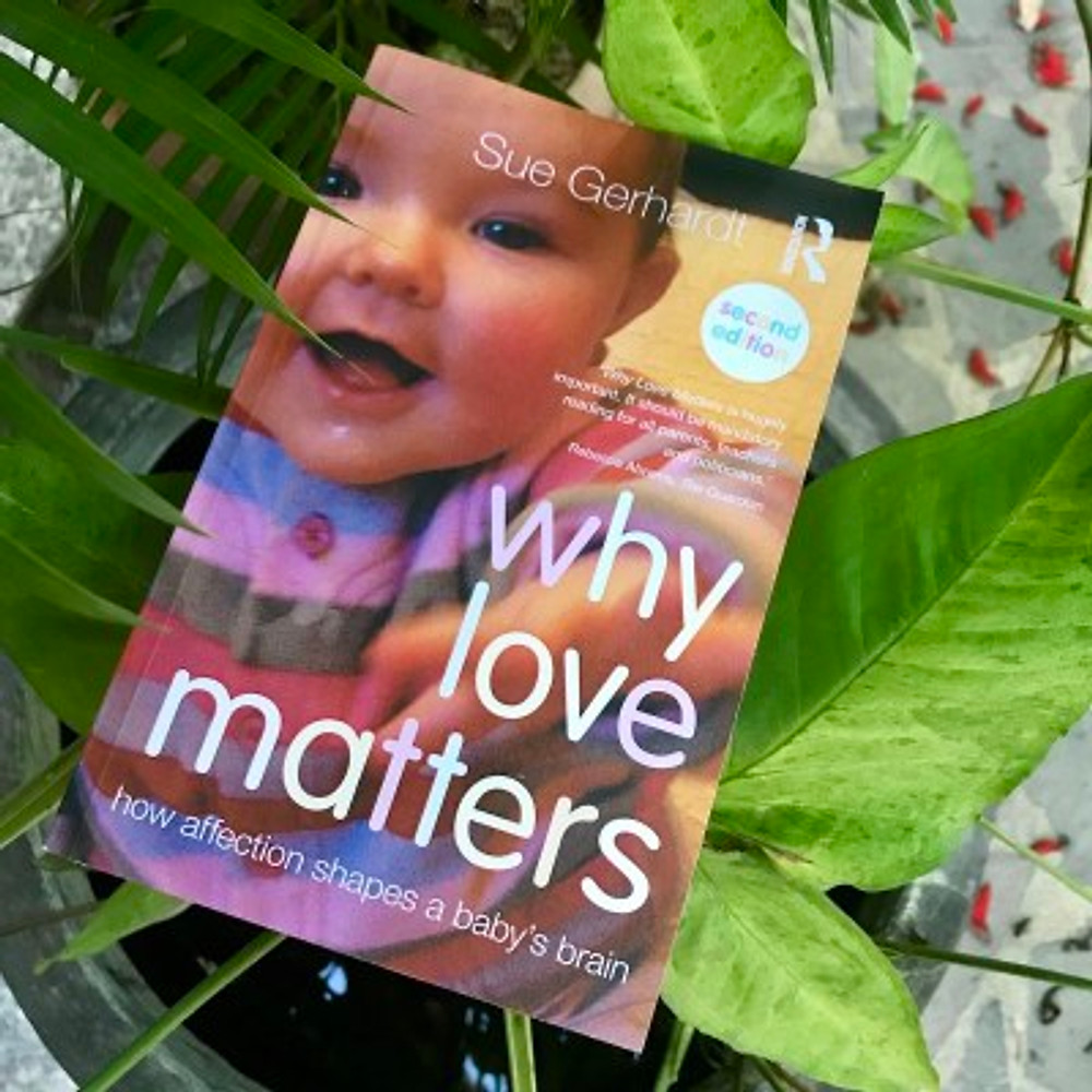 """A photograph of the book """"Why Love Matters"""" by Dr. Sue Gerhardt"""