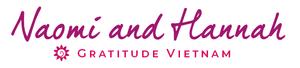 Signature of retreat hosts Hannah and Naomi at the Gratitude Vietnam retreat venue in SE Asia