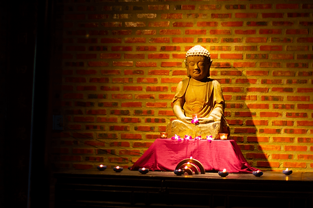 Buddha in the Gratitude Vietnam meditation space Hoi An