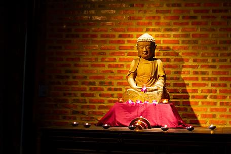 Buddha in the Gratitude Vietnam meditation space Hoi An