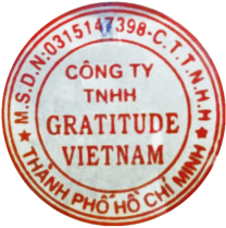 The company seal of the Gratitude Vietnam retreat center in Hoi An