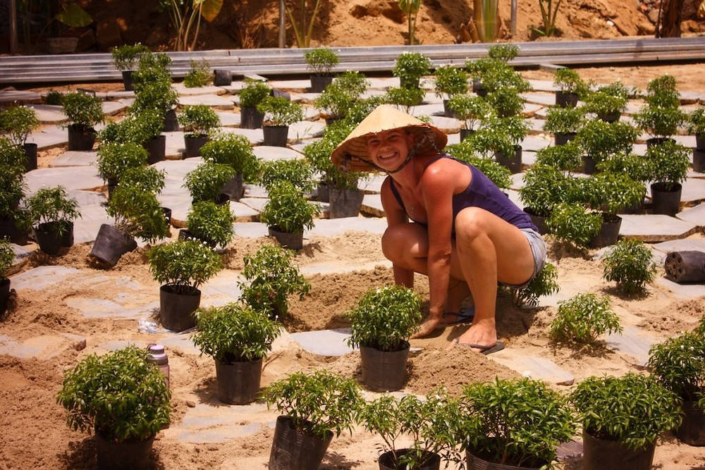 The Meditation Labyrinth in Construction at Gratitude Vietnam Retreat Venue