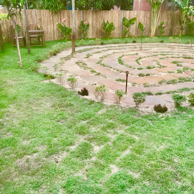 Meditation Labyrinth and garden Gratitude Retreat in Asia