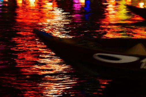 The Bon river Hoi An at night