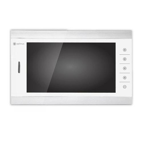 Видеодомофон Optimus VM-10.1 (белый+серебро)/(черный+серебро)