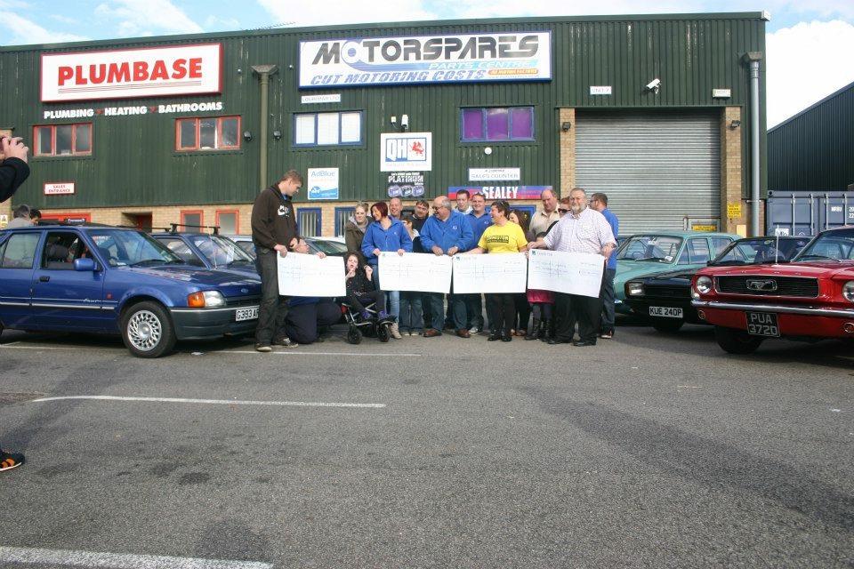 Pre BRCC - Bury Retro Ford cheque presentation 3