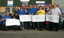 Pre BRCC - Bury Retro Ford cheque presentation