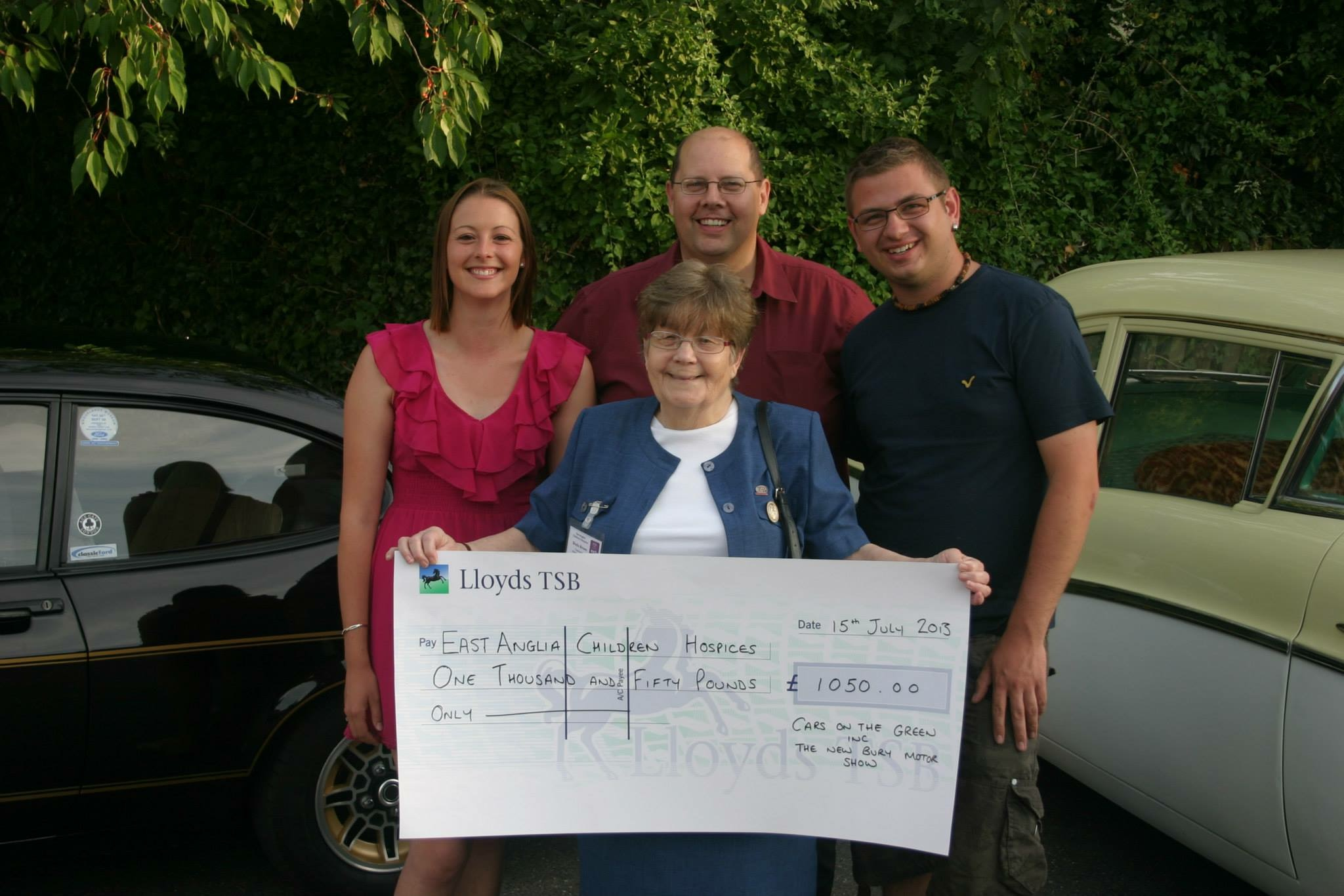 BRCC - COTG Cheque Presentation to East Anglian Childrens Hospice