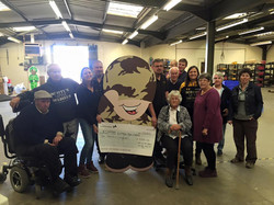 COTG Cheque for Scottys Little Soldiers 2