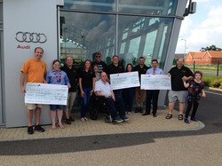 BRCC - COTG Cheque Presentations to the Scouts, The Rainbow Ward, and Scope