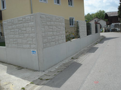 Betonplatte Natursteinoptik