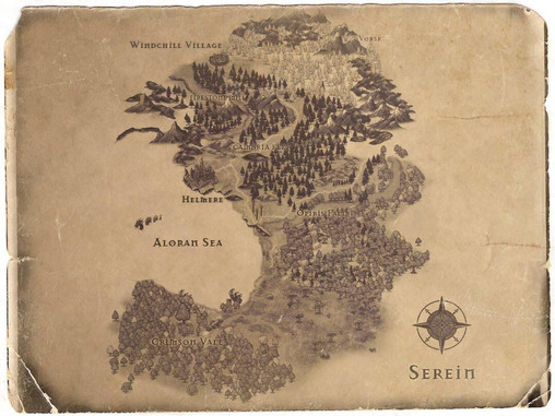 Old style map of Serein