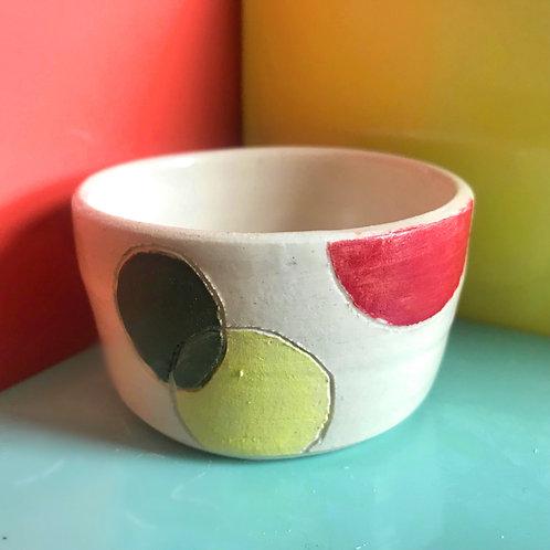 polka dot pot (white)