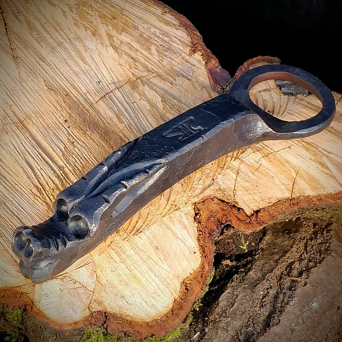 Hand forged dragon bottle opener