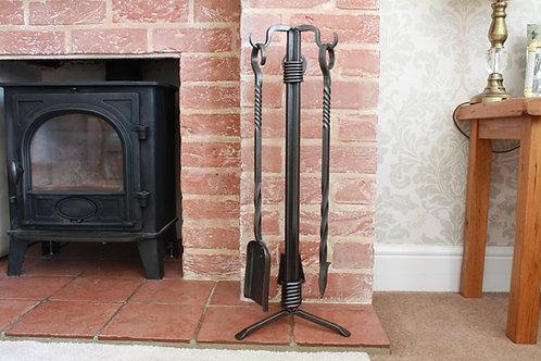 Twisted and wrapped fireside companion set