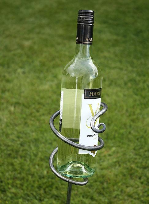 Garden wine bottle holder