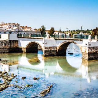 De Romeinse brug bij laagwater