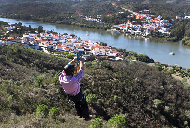 Zipline van Spanje naar Portugal