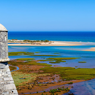Uitzicht over de Ria Formosa