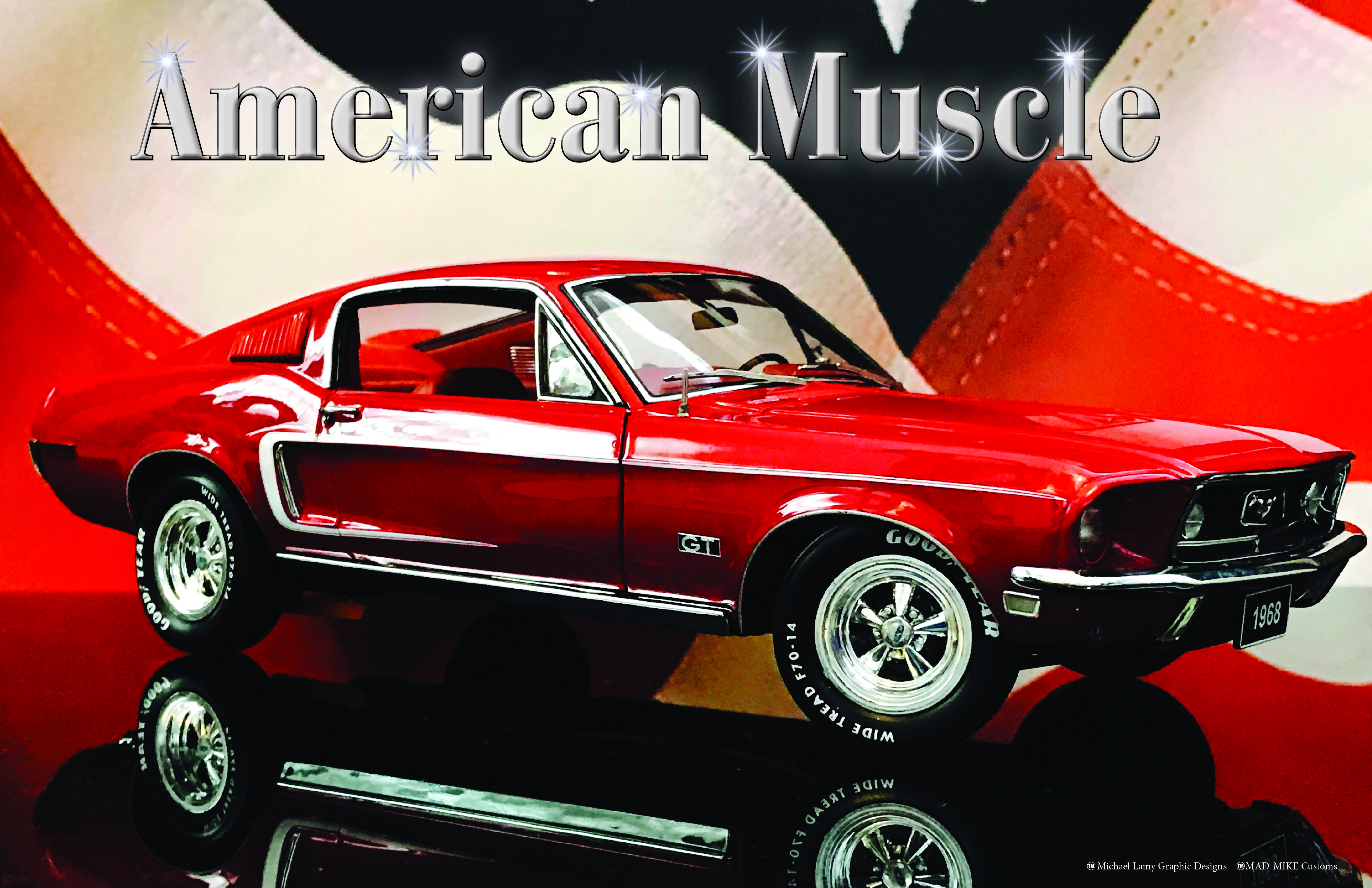 Red68Mustang11x17