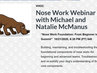 Nose Work Webinar