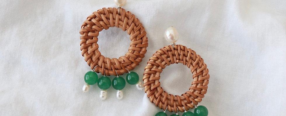 Emily Jade Drop Earrings