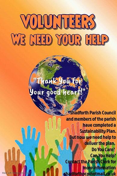Copy of Volunteers - we need You - Made