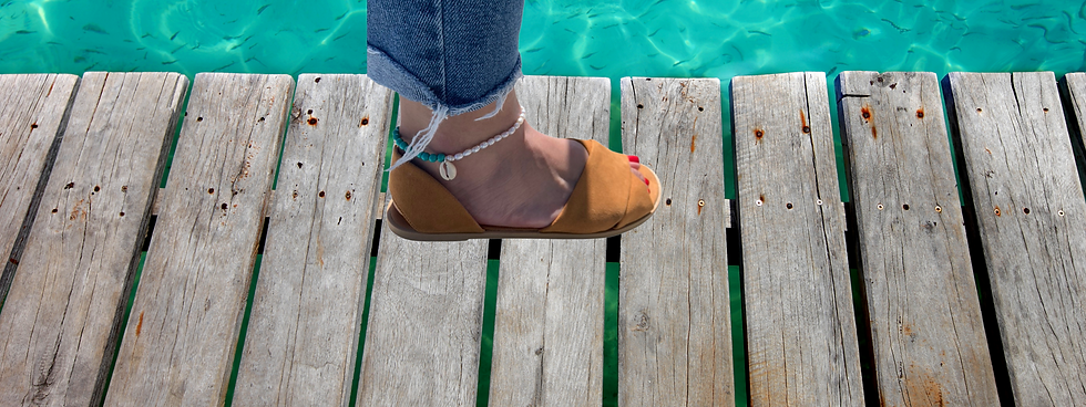 Pearl and turquoise Anklet