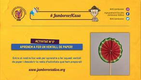 #JamboreeACasa Nº17: Aprenem a fer un Ventall de Paper!