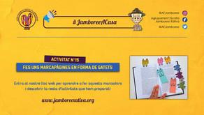 #JamboreeACasa Nº15: Fer uns Marcapàgines amb forma de Gatets!