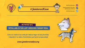 #JamboreeACasa Nº5: Retallable i Màscara a tamany real d'un Llop!
