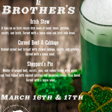 Celebrate St. Patrick's DayWith us!