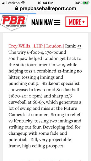Trey Willis #1 Uncommitted '21 Pitcher