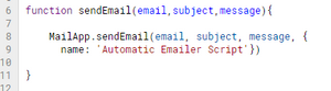 basic function to send email